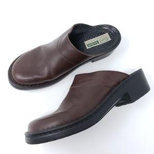 Josef Seibel Clogs Brown Leather Mule Comfort Shoe